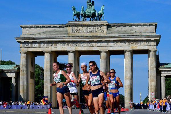 Corredores en la Maratón de berlín