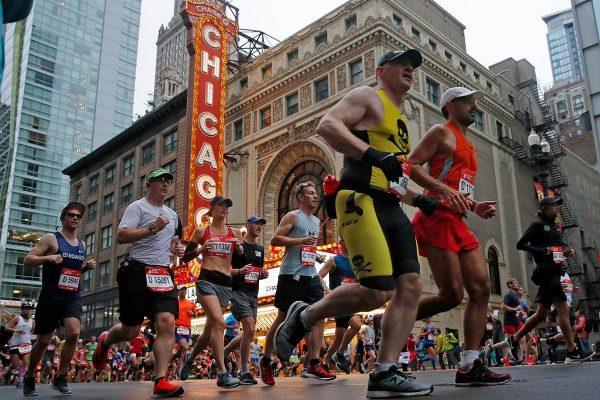 Maratonianos en Chicago