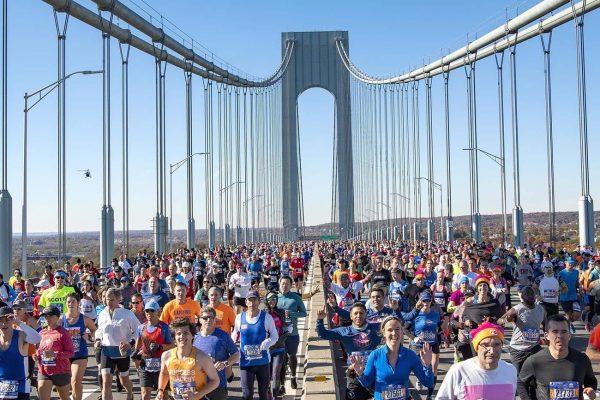 Maratonianos en la maratón de nueva york